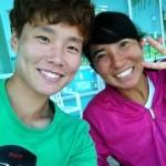 Lee Ji-Hee選手と。