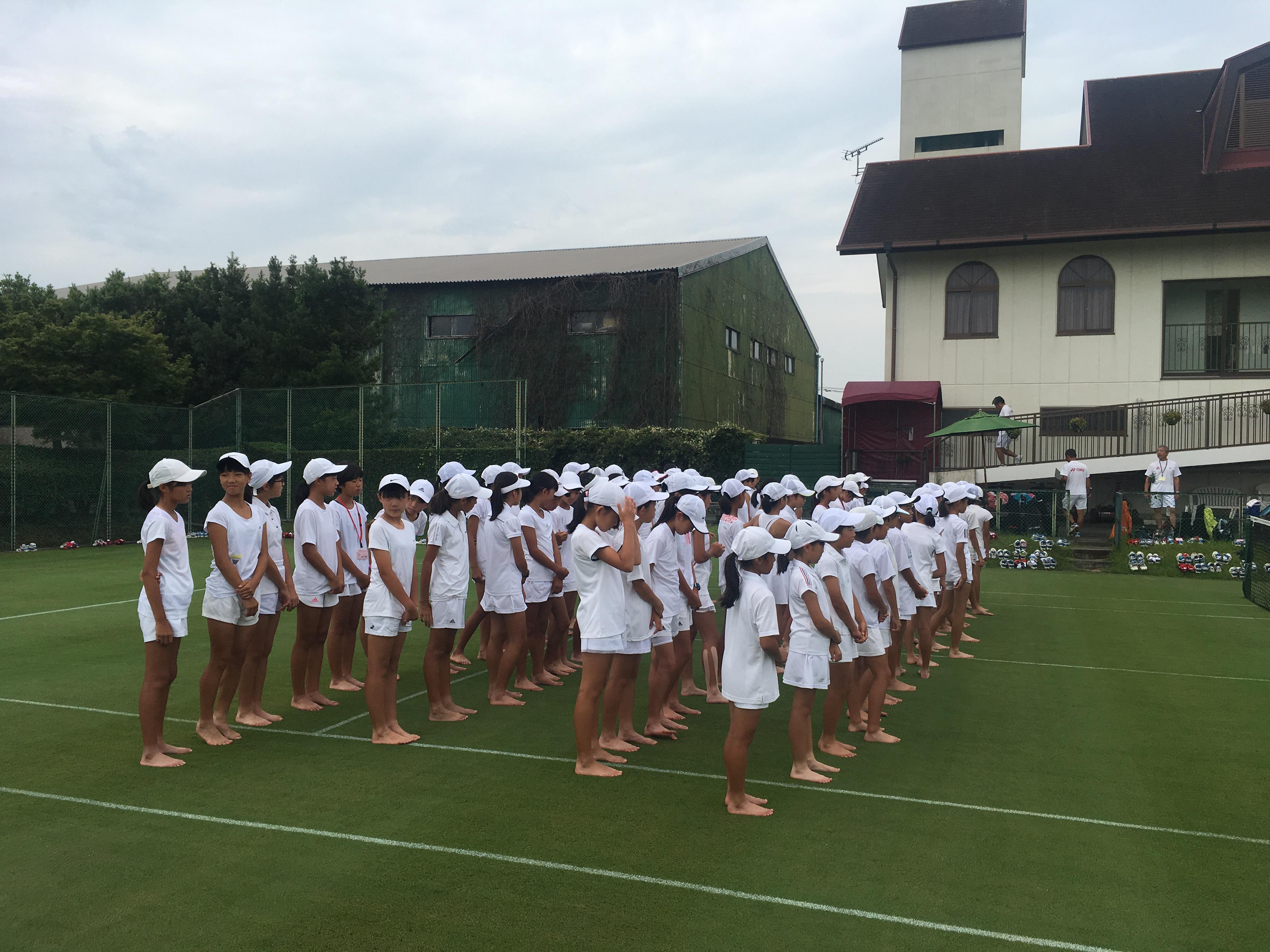 第5回 グラスホパージュニアテニスキャンプ DAY-2。【YUMI BLOG  いつも元気 ♪】